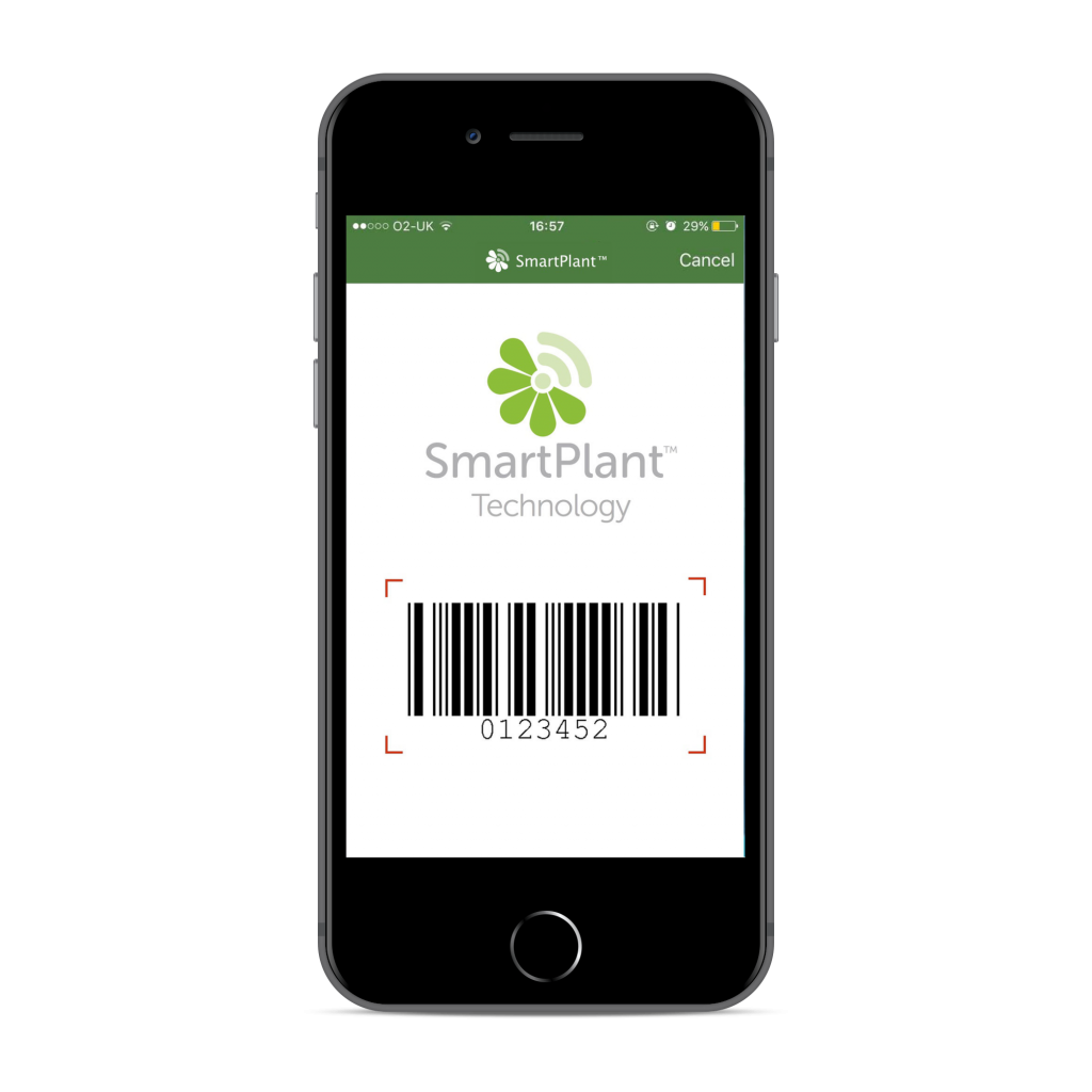 SmartPlant app on an iPhone 8 compatible with Apple and Android